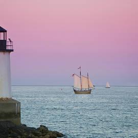 Fame At Sunset On Salem Harbor by Jeff Folger