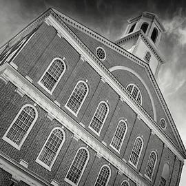 Faneuil Hall Boston Massachusetts Black and White