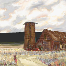 Farm House In A Field by Marshal James