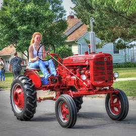 Farm Lass Takes Little Red To Town by J Laughlin