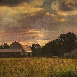 Farm On Burlap by Jack Wilson