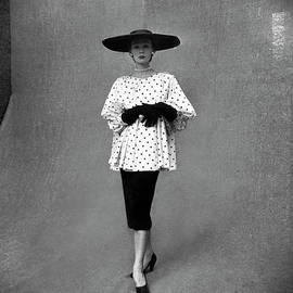 Fashion Model Showing Polka Dotted by Gordon Parks