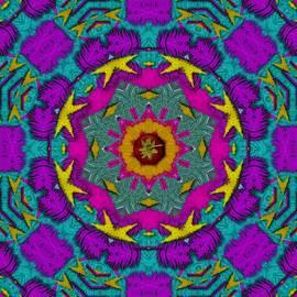 Fern  Mandala  In Strawberry Decorative Style by Pepita Selles