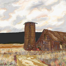 Field And A Red Barn by Marshal James