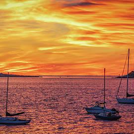 Kristen Wilkinson - Fiery Sunrise over Casco Bay