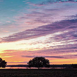 Fiery Sunset Over Canyon Lake - Comal County - Central Texas Hill Country by Silvio Ligutti