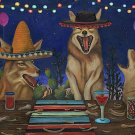 Fiesta De Los Coyote's by Leah Saulnier The Painting Maniac