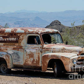 Firestone Paneled truck. by Minnetta Heidbrink