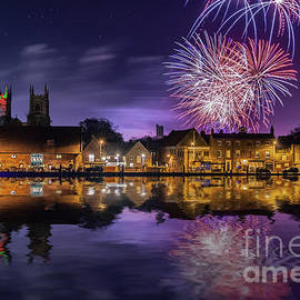 Norfolk firework display over Kings Lynn England by Simon Bratt Photography LRPS