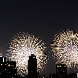 Fireworks Light Up The Sky Above by New York Daily News Archive