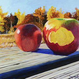 First Apples From The Orchard by Lynn Hansen