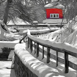 Fish Hatchery in Winter by Nikolyn McDonald