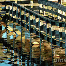 Fishing Pier Walkway Abstract by Rodger Painter