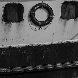 Fishing Troller Details Bw by Susan Candelario