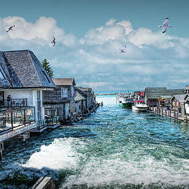 Fishtown in Leland Michigan by Randall Nyhof
