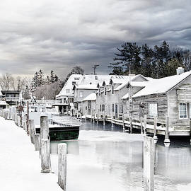 Fishtown Michigan in February by Evie Carrier