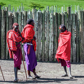 Five Maasai Warriors 4123 by Amyn Nasser Photographer - Neptune