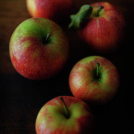 Five Red Apples by Cassi Moghan