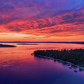 Flag Point Fiery Sunset by Ron Wiltse