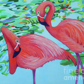 Flamingos JESS AND LORRAINE by Sharon Nelson-Bianco