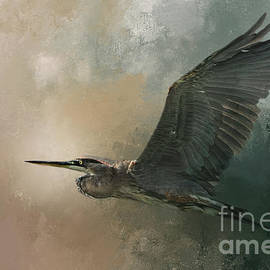 Flight Of The Great Blue by Marvin Spates