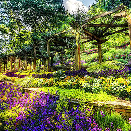 Floral Abundance in the Garden by Debra and Dave Vanderlaan