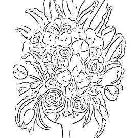 Floral Bouquet at Paint My Sketch Art Group by Delynn Addams