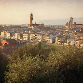 Florence Italy Cityscape by Joan Carroll