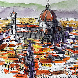 Florence view from Palazzo Vecchio Tower by Mona Edulesco