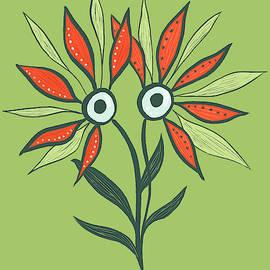 Boriana Giormova - Flower Monster In Orange And Green