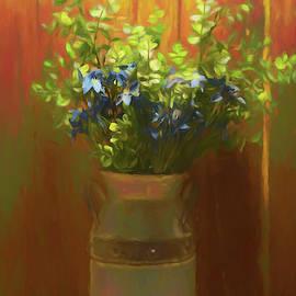 Flowering Milk Jug by Pamela Walton