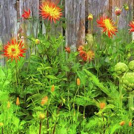 Flowers And Artichokes by Thom Zehrfeld