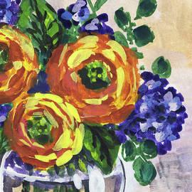 Irina Sztukowski - Flowers Bouquet Peeking Yellow Floral Impressionism
