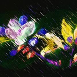 Flowers on Black Velvet by Mario Carini