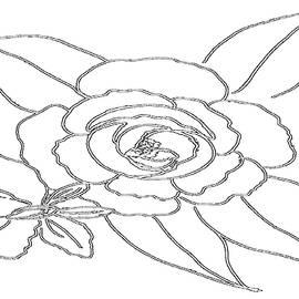 Tandem Floral - PAINT MY SKETCH by Delynn Addams by Delynn Addams