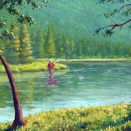 Fly Fisherman by Rick Hansen