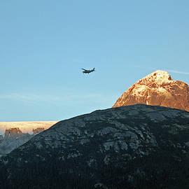 Flying High. Small Plane In Skagway, Alaska by Connie Fox