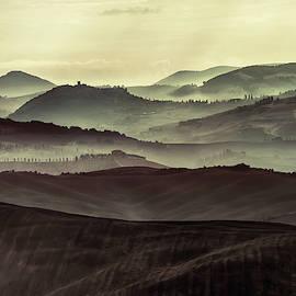 Foggy Early Morning In Toscany by Jaroslaw Blaminsky