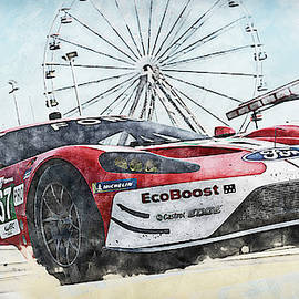Ford Gt, Le Mans 2019 - 16 by Andrea Mazzocchetti