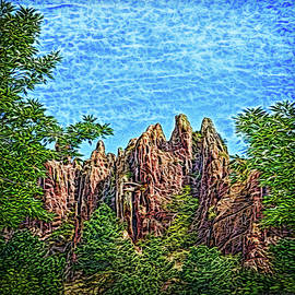 Forest Cliff Discovery by Joel Bruce Wallach
