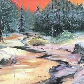 Forest Stream - 16X20 Oil on Canvas by Hyacinth Paul by Hyacinth Paul