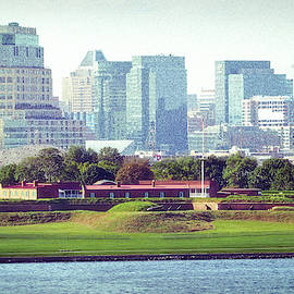 Fort Mchenry With Baltimore Background by Bill Swartwout Fine Art Photography