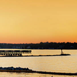 Fort Smallwood Sunset Pano by Brian Wallace