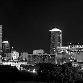 Fort Worth Pano Monochrome 061519 by Rospotte Photography