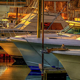 Four Boats in the Sunset Light by TJ Baccari