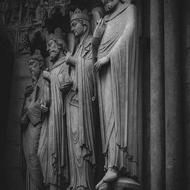 Four Figure Sculptures on Notre Dame, Paris 2016 by Liesl Walsh