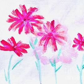 Four Flowers  by Lavender Liu