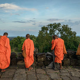 Four Monks And A Phone. by Ian Robert Knight