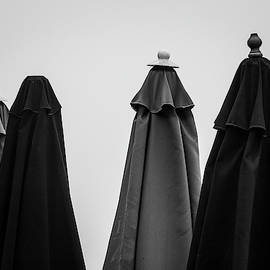 Four Umbrellas BW by David Gordon
