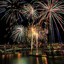 Fourth of July Over Portland by Wes and Dotty Weber